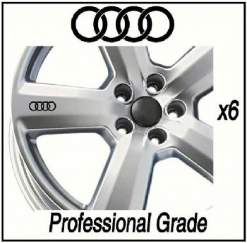 Audi Car Wheel Decals / Stickers / Graphics
